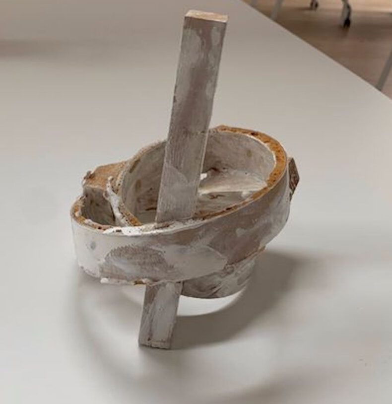 Govert Heikoop, white sculpture_ the vintage art club