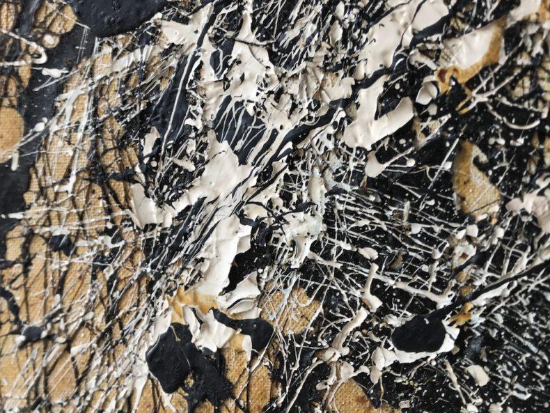 Uknown D Drip painting - 2 - vintage_art_club_gallery